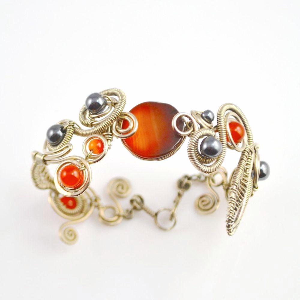 Anca Wirework Art Jewelry Bracelet