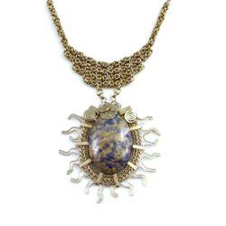 Art jewelry wirework Qucha Necklace by designer Coco Paniora Salinas of Rumi Sumaq rumisumaq.com