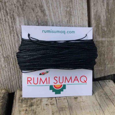 Linhasita Black Waxed Polyester Cord | Rumi Sumaq Waxed Threads