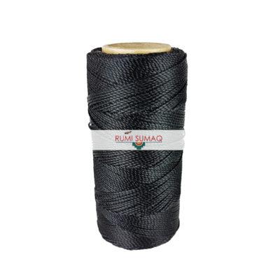 Black waxed cord 1 mm Linhasita waxed polyester cord in black (preto) | RUMI SUMAQ macrame cord and knotting tutorials