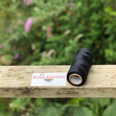 Black Waxed Cord Linhasita 1mm Thread | RUMI SUMAQ Waxed Cords