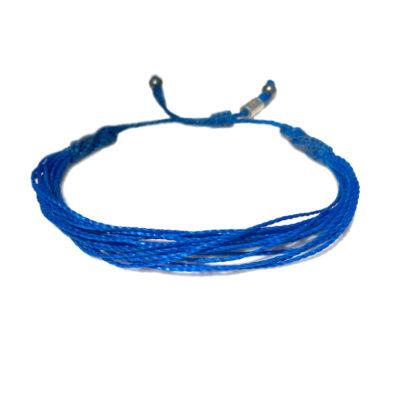 Blue awareness bracelet by Rumi Sumaq