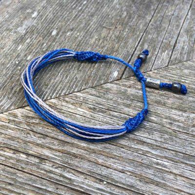 RUMI SUMAQ Blue and Gray Awareness Bracelet for Type 1 Diabetes T1D, Juvenile Diabetes, Type One Diabetes