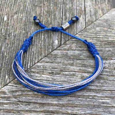 RUMI SUMAQ Blue and Gray Awareness Bracelet for Type 1 Diabetes T1D, Juvenile Diabetes, Type One Diabetes