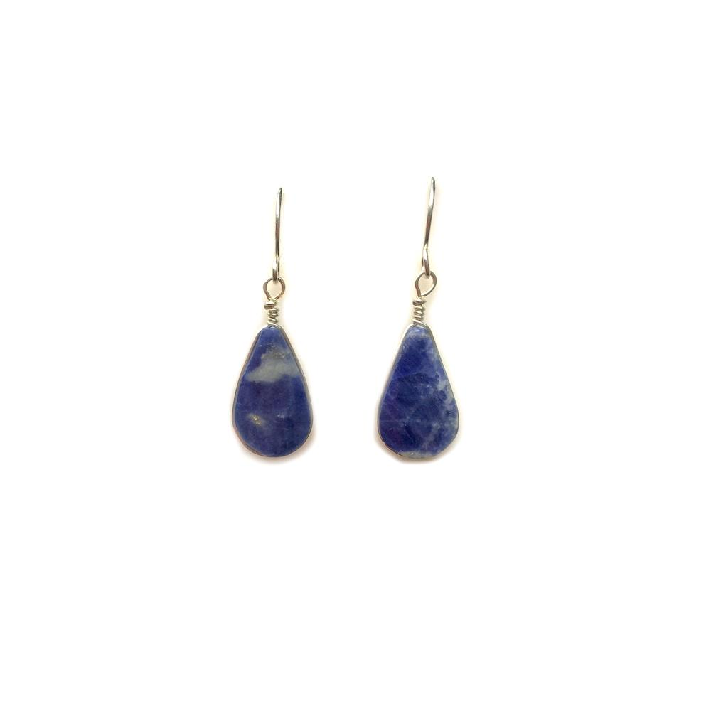 Blue Sodalite earrings in Sterling Silver | Rumi Sumaq