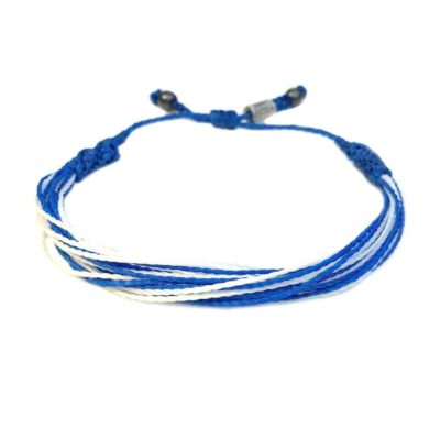 ALS Awareness Bracelet | Blue and White String Bracelet for ALS Awareness, Lou Gehrig's Disease Awareness and Other Motor Neuron Diseases by RUMI SUMAQ Jewelry