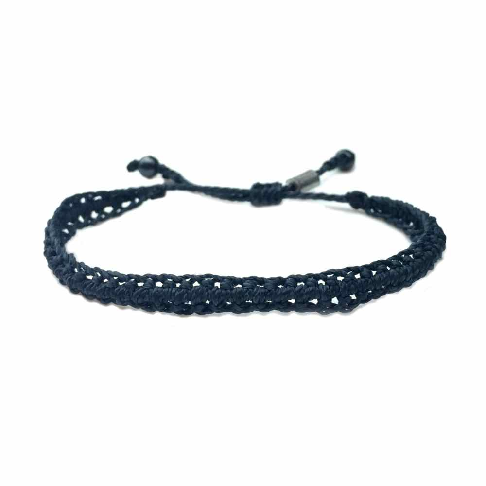 silver navy love products bracelet deforestjewelry leather hook