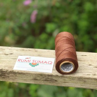 Brown Brazilian Waxed Polyester Cord Linhasita 354 Light Brown 1mm 2ply Waxed Cord | RUMI SUMAQ Hilo Encerado