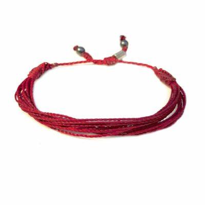 Burgundy Awareness Bracelet by RUMI SUMAQ Jewelry