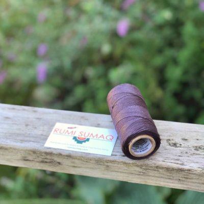 Buy Waxed Cord at rumisumaq.com | Linhasita 211 Dark Lilac Waxed Polyester Cord 1mm