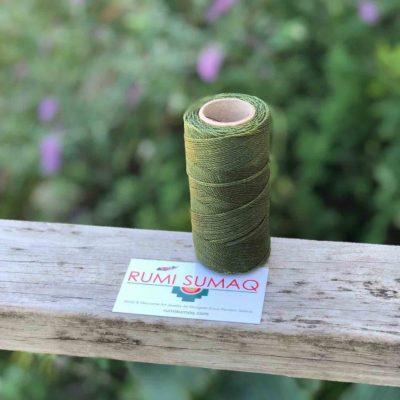 Buy Waxed Cord at rumisumaq.com | Linhasita 88 Olive Green Waxed Polyester Thread 1mm