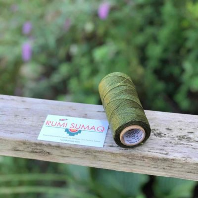 Buy Waxed Cord at rumisumaq.com | Linhasita 88 Olive Green Waxed Polyester Thread 1mm Linha Encerada Verde Oliva