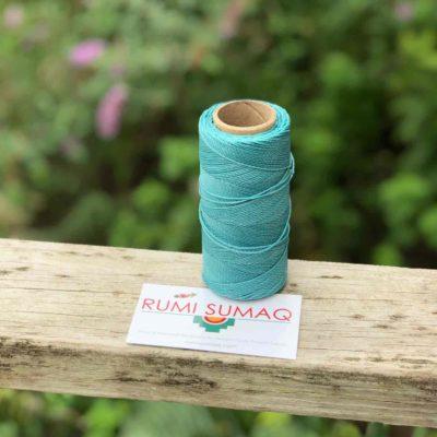 Buy Waxed Polyester Cord at Rumi Sumaq | Linhasita 224 Aqua Green 1mm Brazilian Waxed Polyester Cord