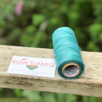 Buy Waxed Polyester Cord from Brazil at Rumi Sumaq | Linhasita 224 Aqua Green 1mm Brazilian Waxed Polyester Cord