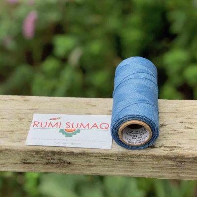Buy Waxed Polyester Cord at Rumi Sumaq | Linhasita 606 Light Blue 1mm Waxed Polyester Cord