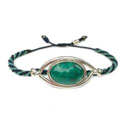 Chrysocolla Silver Bracelet Navy Aqua Rope | RUMI SUMAQ macrame sailor knot jewelry handmade on the beautiful island of Martha's Vineyard