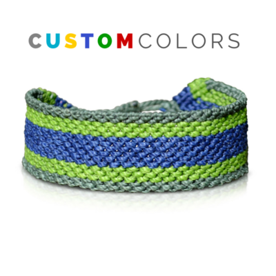 Custom Mens Bracelet - Hand-knotted Macrame Mens Friendship Bracelet by Designer Coco Paniora Salinas of RUMI SUMAQ. Handmade on Martha's Vineyard.