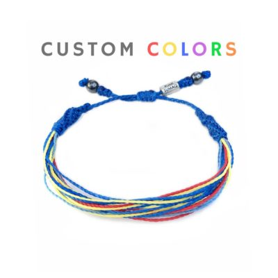 Custom string bracelet in customized colors and sizes for men, women and kids by Rumi Sumaq - Handmade surfer string bracelets hand-knotted on Martha's Vineyard