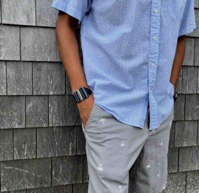 Dark Blue Macrame Bracelet | RUMI SUMAQ Beach Jewelry Handmade on Martha's Vineyard