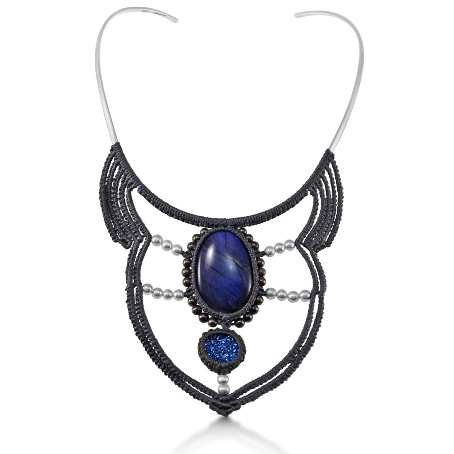 Macrame necklace Achik at rumisumaq.com