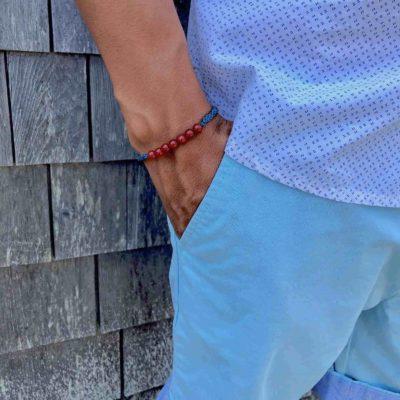 Fire Agate Stone Bracelet | RUMI SUMAQ Gemstone Macrame Bracelets