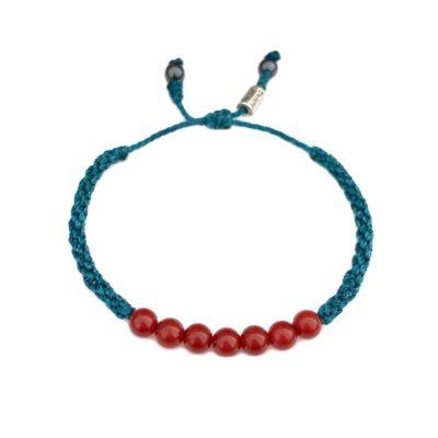 Fire Agate Stone Bracelet | Rumi Sumaq Macrame Gemstone Jewelry