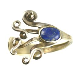 Rumi Sumaq fork bracelet with Lapis Lazuli