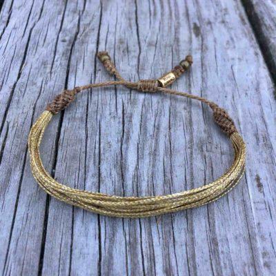 Gold Awareness Bracelet for Childhood Pediatric Cancer Awareness | RUMI SUMAQ Awareness Jewelry