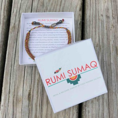 Gray Red Yellow Bracelet | Rumi Sumaq Nautical Sailor Rope Bracelets Hand-Knotted on Martha's Vineyard