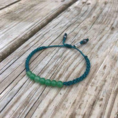 Green Jade bead bracelet by Rumi Sumaq Jewelry