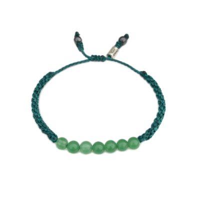 Emerald green Jade bead bracelet - RUMI SUMAQ gemstone macrame jewelry handmade on Martha's Vineyard