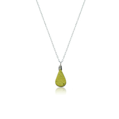Green Serpentine necklace in Sterling Silver by RUMI SUMAQ Jewelry - Handmade on Martha's Vineyard