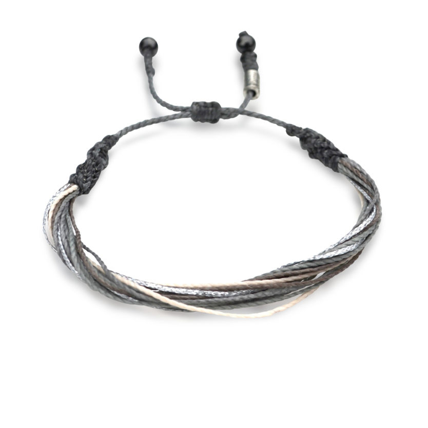 Grey Friendship Bracelet for Men and Women by Rumi Sumaq