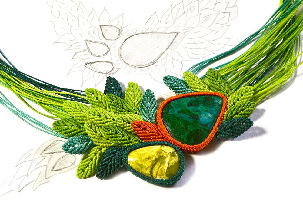 Handmade Textile Fiber Art Jewelry
