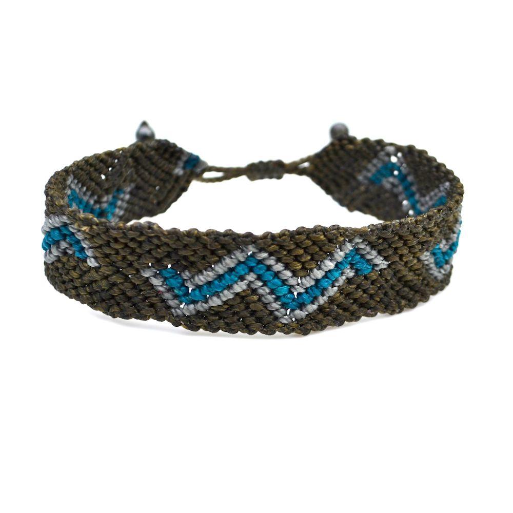 Illapa Macrame Bracelet with Zig Zag by designer Coco Paniora Salinas of Rumi Sumaq