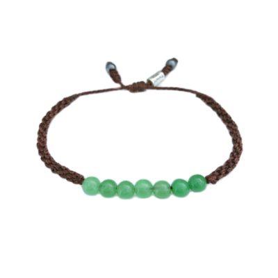 Jade bangle bracelet - RUMI SUMAQ gemstone macrame jewelry handmade on Martha's Vineyard
