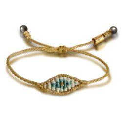 Macrame evil eye bracelet