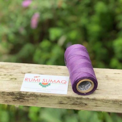 Lavender Waxed Polyester Cord Linhasita 69 | RUMI SUMAQ Waxed Threads for Macrame Jewelry, Beading, Leather Working, Quilting and Basket Weaving