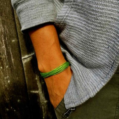 Lime green awareness bracelet by RUMI SUMAQ Jewelry
