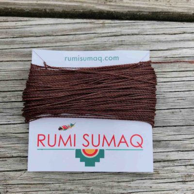 Linhasita 273 Medium Brown 1mm Waxed Polyester Cord | RUMI SUMAQ Waxed Threads