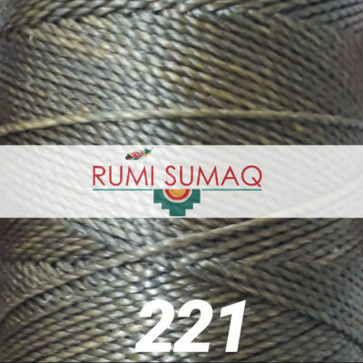 Linhasita 221 Moss Green Waxed Polyester Cord 1mm | Rumi Sumaq Waxed Thread for Macrame Knotting, Basket Making, Leather Working, Quilting, Beading, Hand Stiitching, and Macrame Jewelry