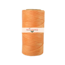 1mm waxed polyester cord Linhasita 216 peach pale orange waxed thread by RUMI SUMAQ