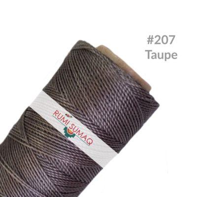 Linhasita 207 1mm Waxed Polyester Cord Taupe Waxed Threads | Rumi Sumaq