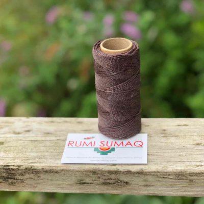 Linhasita 207 Taupe 1mm Waxed Polyester Cord | RUMI SUMAQ