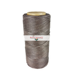 Linhasita 207 Taupe 1mm Waxed Polyester Cord | Rumi Sumaq Waxed Thread for Basketry, Macrame, Beading, Leather Working, Hand Stitching, Jewelry Making