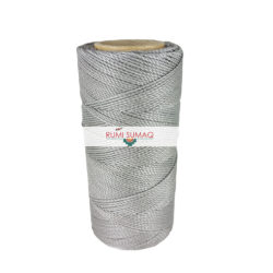 Platinum Gray 1mm Waxed Polyester Cord Linhasita 208 | Rumi Sumaq Waxed Thread