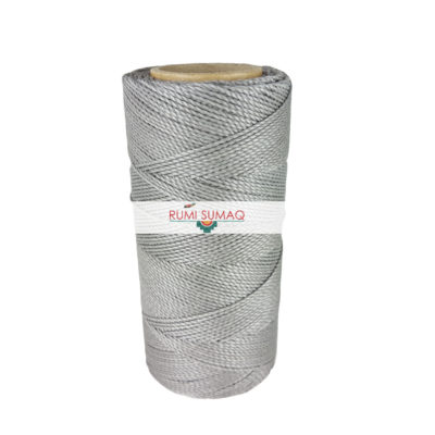 Platinum Gray 1mm Waxed Polyester Cord Linhasita 208 | Rumi Sumaq Waxed Thread