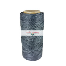 Linhasita 209 Dark gray Green 1 mm Waxed Polyester Cord | Rumi Sumaq Waxed Thread for Knotting and Macrame Jewelry