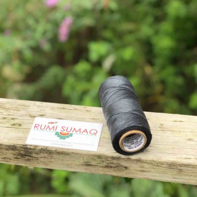 Brazilian Waxed Cord Linhasita 209 Dark Gray Green 1mm Waxed Polyester Cord | RUMI SUMAQ