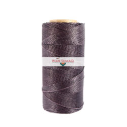 Linhasita 111 Dark Lilac Purple 1 mm Waxed Polyester Cord | Rumi Sumaq Waxed Thread 1mm